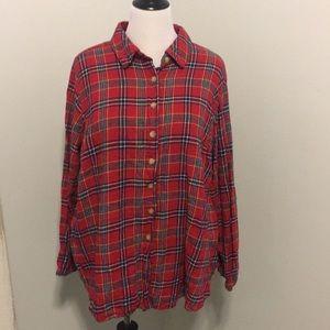 Flannel plaid tunic
